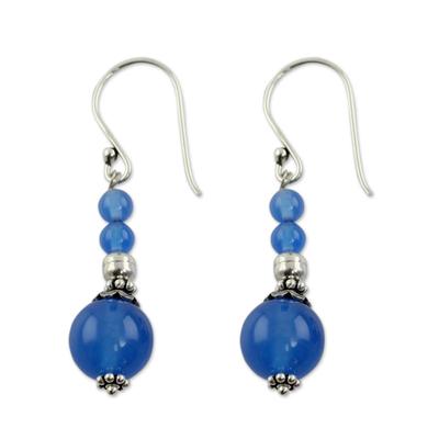 India Handmade Chalcedony Earrings