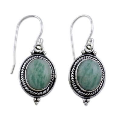 Handcrafted Indian Earrings with Amazonite