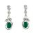Sterling silver dangle earrings, 'Forest Treasure' - Sterling Silver and Green Onyx Fair Trade Earrings thumbail