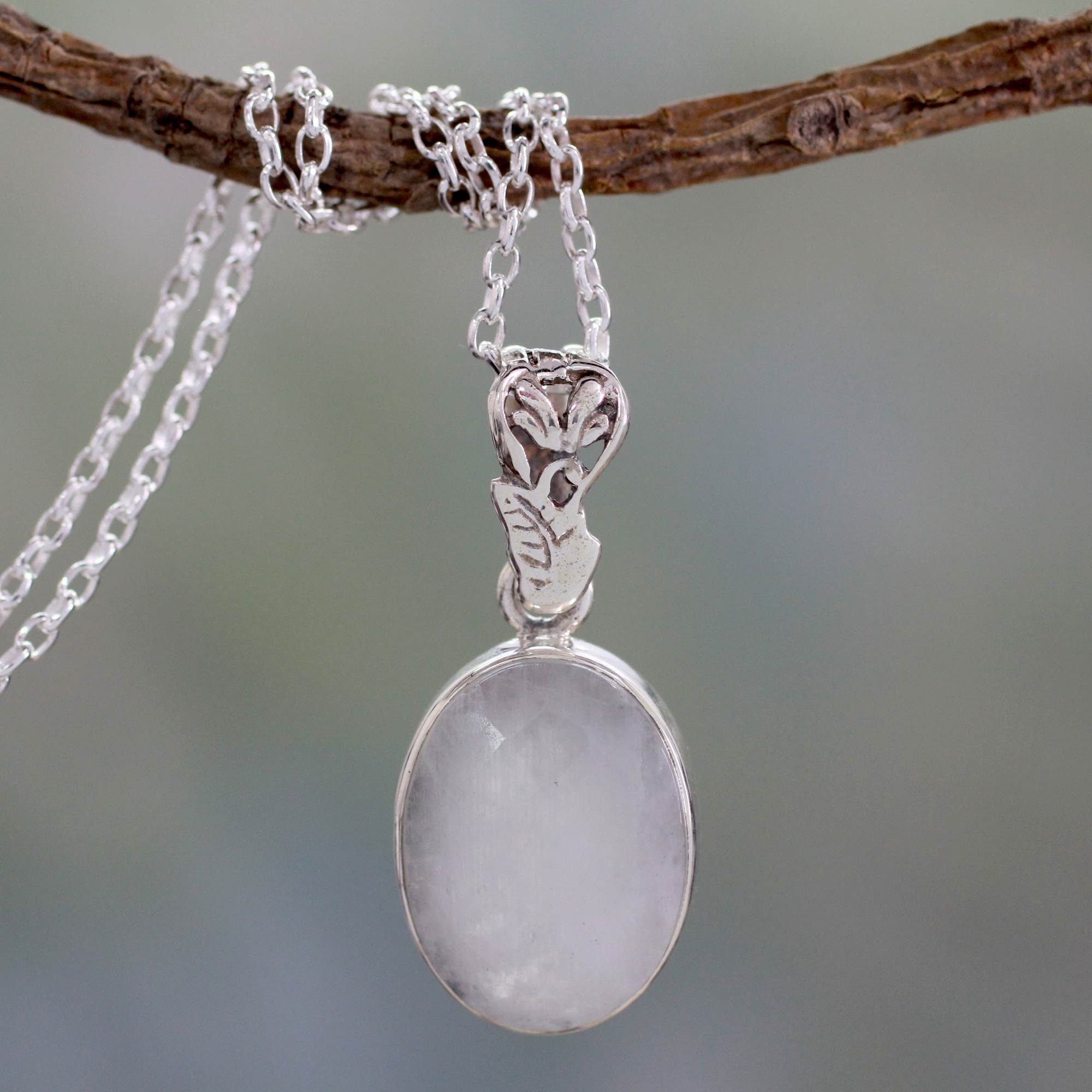 Artisan made silver and rainbow moonstone necklace radiant facets artisan made silver and rainbow moonstone necklace radiant facets novica aloadofball