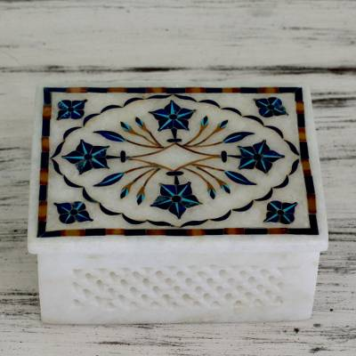 Marble inlay jewelry box, Cosmic Charm
