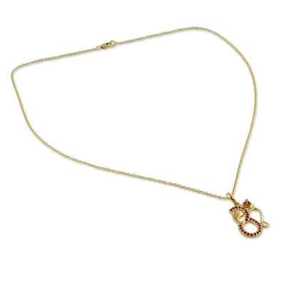 Ruby and Gold Vermeil Necklace
