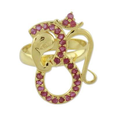Ruby and Gold Vermeil Ring
