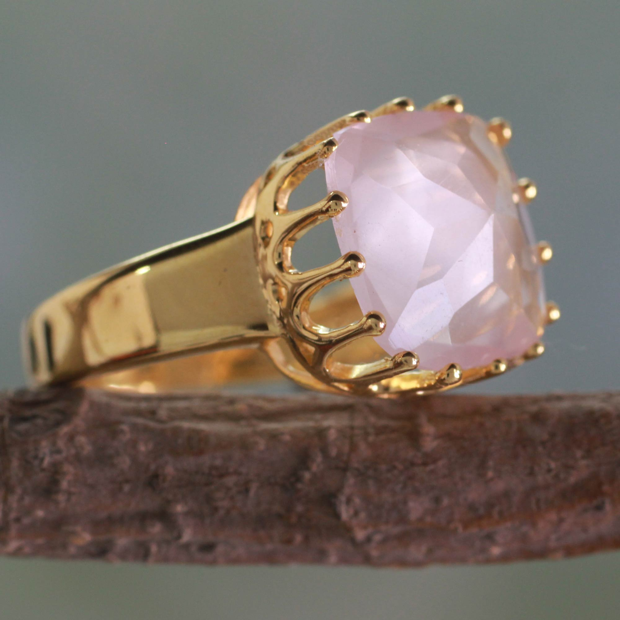 floating white halo rings brown wedding color rose gold diamonds fancy products unique carat smoky quartz ring engagement