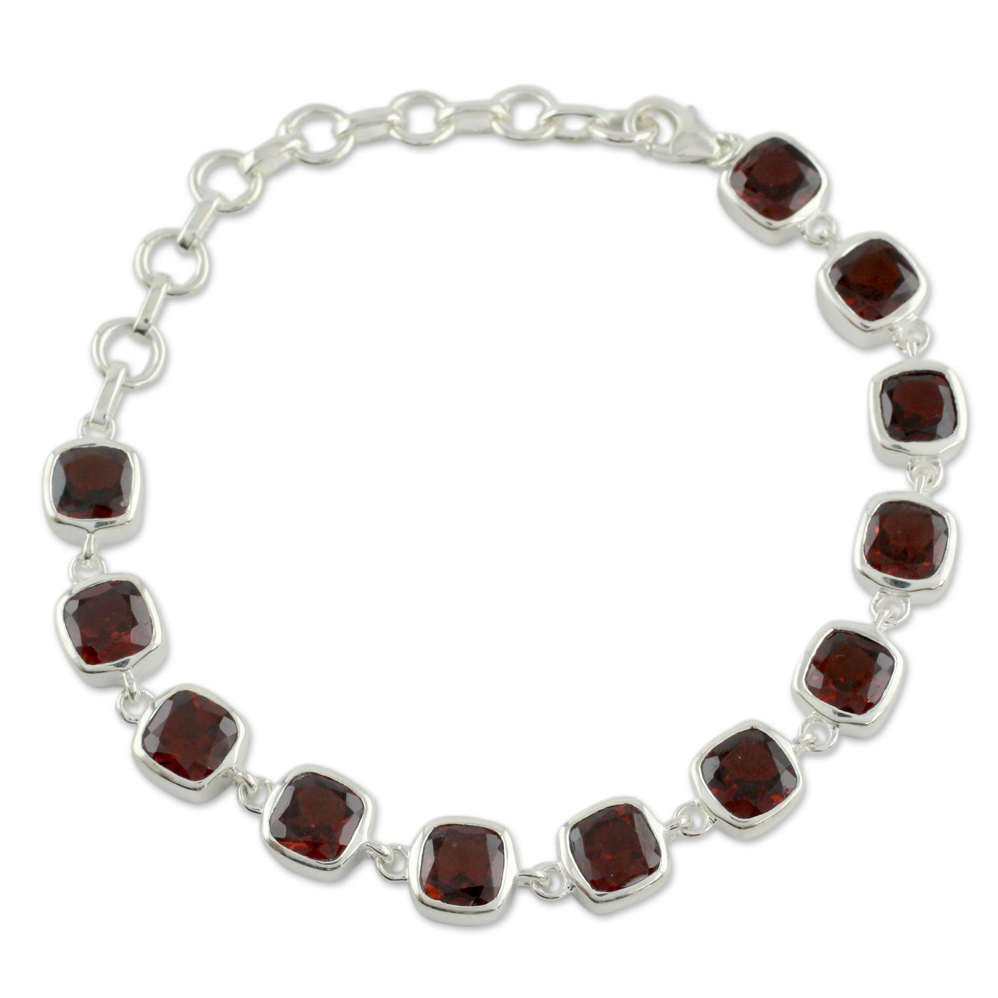 Garnet Bracelet Fair Trade Jewelry Loving Whisper