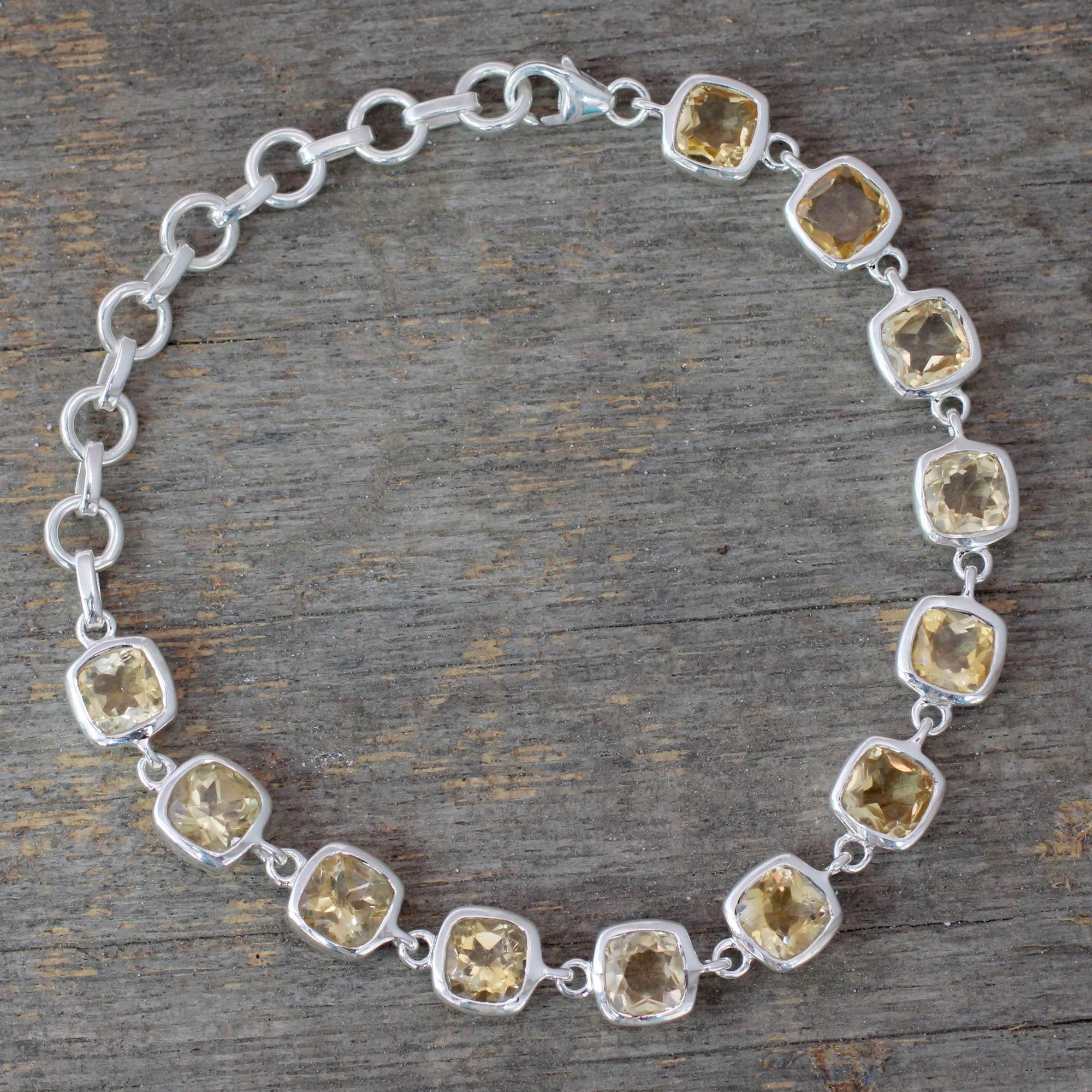 Citrine Bracelet Fair Trade Jewelry Sunlight Whisper