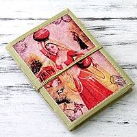 Handmade paper journal, 'Postcard from Rajasthan' - 48-page Handmade Paper Handcrafted Journal