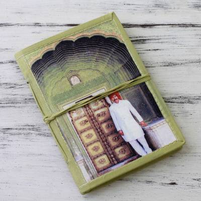 Handmade paper journal, 'Rajasthani Guard' - 48-page Handmade Paper Handcrafted Journal