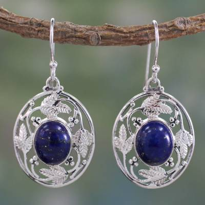Lapis lazuli dangle earrings, Ocean Avatar