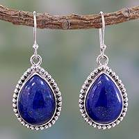 Lapis lazuli dangle earrings, 'Inspiration'