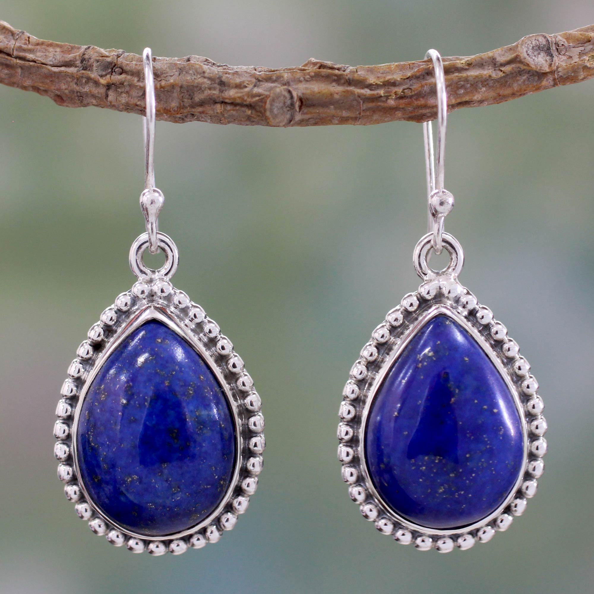 oval lucky jewelry earrings dangle sterling celtic enk lapis bling nk leverback silver