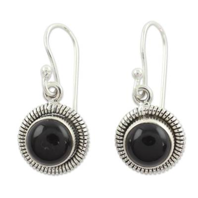 Fair Trade Sterling Silver and Onyx Earrings