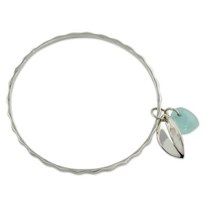 Fair Trade Jewelry Sterling Silver Bracelet with Chalcedony