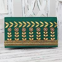 Embellished clutch, 'Golden Bouquet'