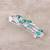 Sterling silver floral brooch pin, 'Spellbound' - Artisan Crafted Green Onyx and Sterling Silver Brooch Pin (image 2c) thumbail