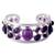 Amethyst cuff bracelet, 'Purple Harmony' - Amethyst Studded Sterling Silver Cuff Bracelet from India (image 2a) thumbail