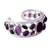 Amethyst cuff bracelet, 'Purple Harmony' - Amethyst Studded Sterling Silver Cuff Bracelet from India (image 2b) thumbail