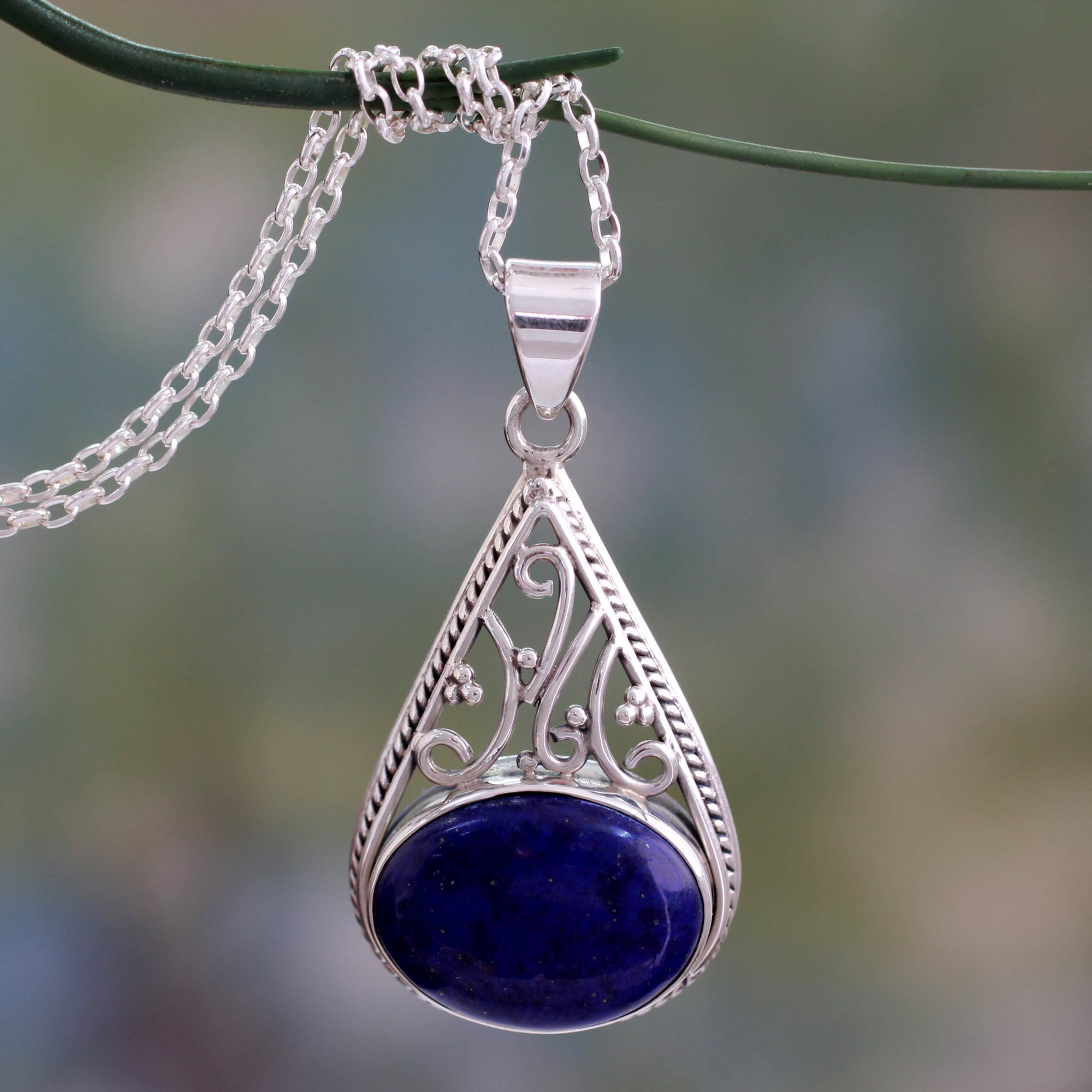 lapis point ct img lazuli cut pendant necklace products