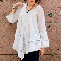 Cotton blouse, 'Amethi Princess'