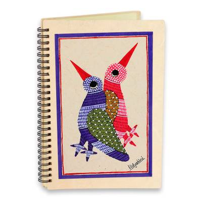 Journal, 'Friends Forever' - Fair Trade Folk Art 40 Page Journal Handmade in India