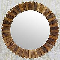 Bamboo wall mirror, 'Nature's Promise'