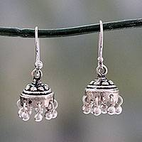 Sterling silver dangle earrings, 'Traditional Grace'