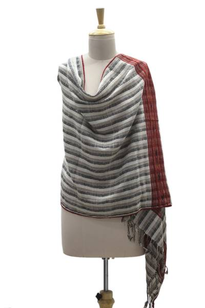 Wool blend shawl, Kullu Twilight