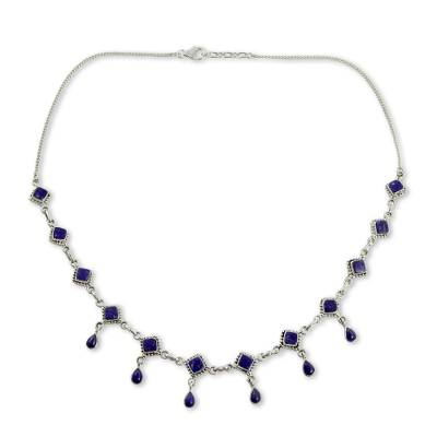 Handmade Lapis Lazuli and Sterling Silver Jewelry from India