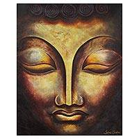 'The Monk' - Original Buddhist Fine Art Painting of a Monk