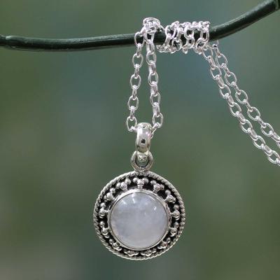 Unicef Uk Market Rainbow Moonstone Jewellery Indian Sterling Silver Necklace Lavish Moon