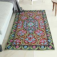 Featured review for Wool chain stitch rug, Kashmir Festival (3x5)