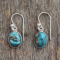 Sterling silver dangle earrings, 'Sky Harmony'