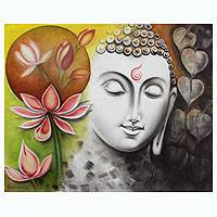 'Timeless Beauty of Buddha' - India Signed Original Buddha Painting