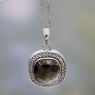 Novica Labradorite dangle earrings, Starlight and Mist