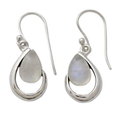 India Handcrafted Rainbow Moonstone Earrings