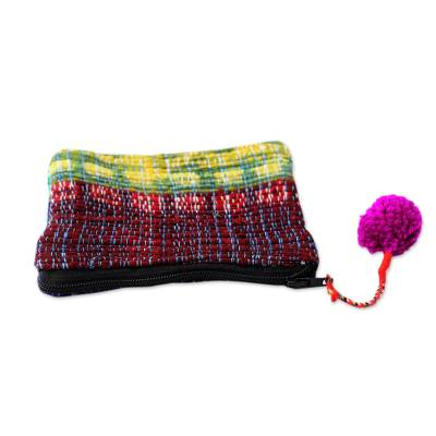 Colorful Coin Purse Crafted from Recycled Saris