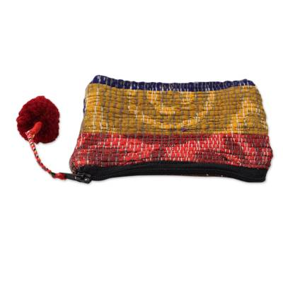 Artisan Crafted Change Purse Made from Recycled Saris