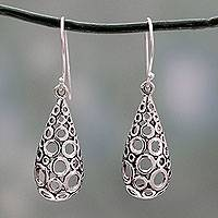 Sterling silver dangle earrings, 'Blowing Bubbles' - Artisan Crafted Fair Trade Silver Earrings
