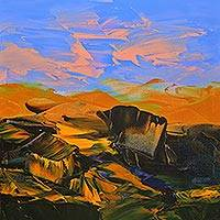 Giclee print on canvas, 'Landscape I' by J.M.S. Mani - Landscape Theme Print on Canvas