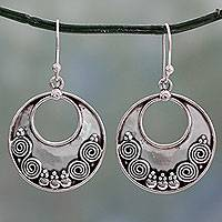 Sterling silver dangle earrings, 'Traditional Allure'
