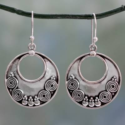 Sterling silver dangle earrings, 'Traditional Allure' - Traditional Handcrafted Sterling Silver Earrings from India