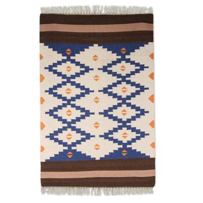 Blue And White Dhurrie Rugs Area Rug Ideas