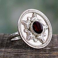 Garnet cocktail ring, 'Crimson Sea Star'