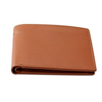 Indian Classic Leather Wallet for Men in Tan