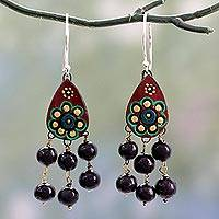 Featured review for Ceramic chandelier earrings, Bollywood Dream