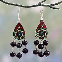 Chandelier earrings unique chandelier earrings at novica ceramic chandelier earrings bollywood dream fair trade ceramic earrings on sterling silver mozeypictures Gallery