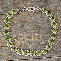 Peridot tennis bracelet, 'Verdant Enchantment'