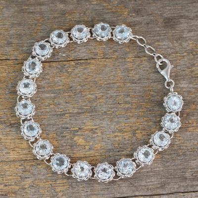 Novica Cultured pearl bracelet, Brilliant Enchantment