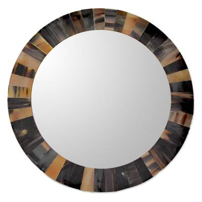 Unicef Market Unique Round Wall Mirror Tiled With