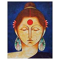 'Satyavati' - Hindu Queen Satyavati Original Fine Art Painting